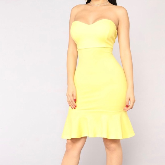 Fashion Nova Dresses | Yellow Tube